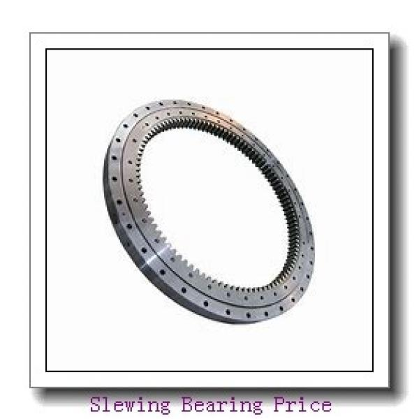 single row four point contact ball slewing ring bearing 010.50.1800 for  hitachi excavator swing gear #1 image